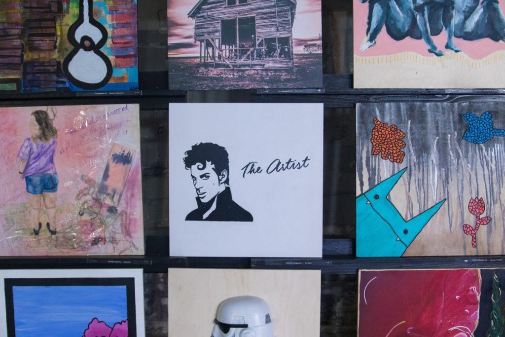 Several paintings on display
