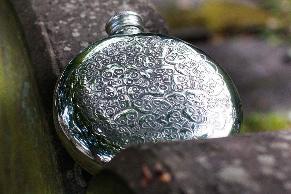Wentworth Skull Flask