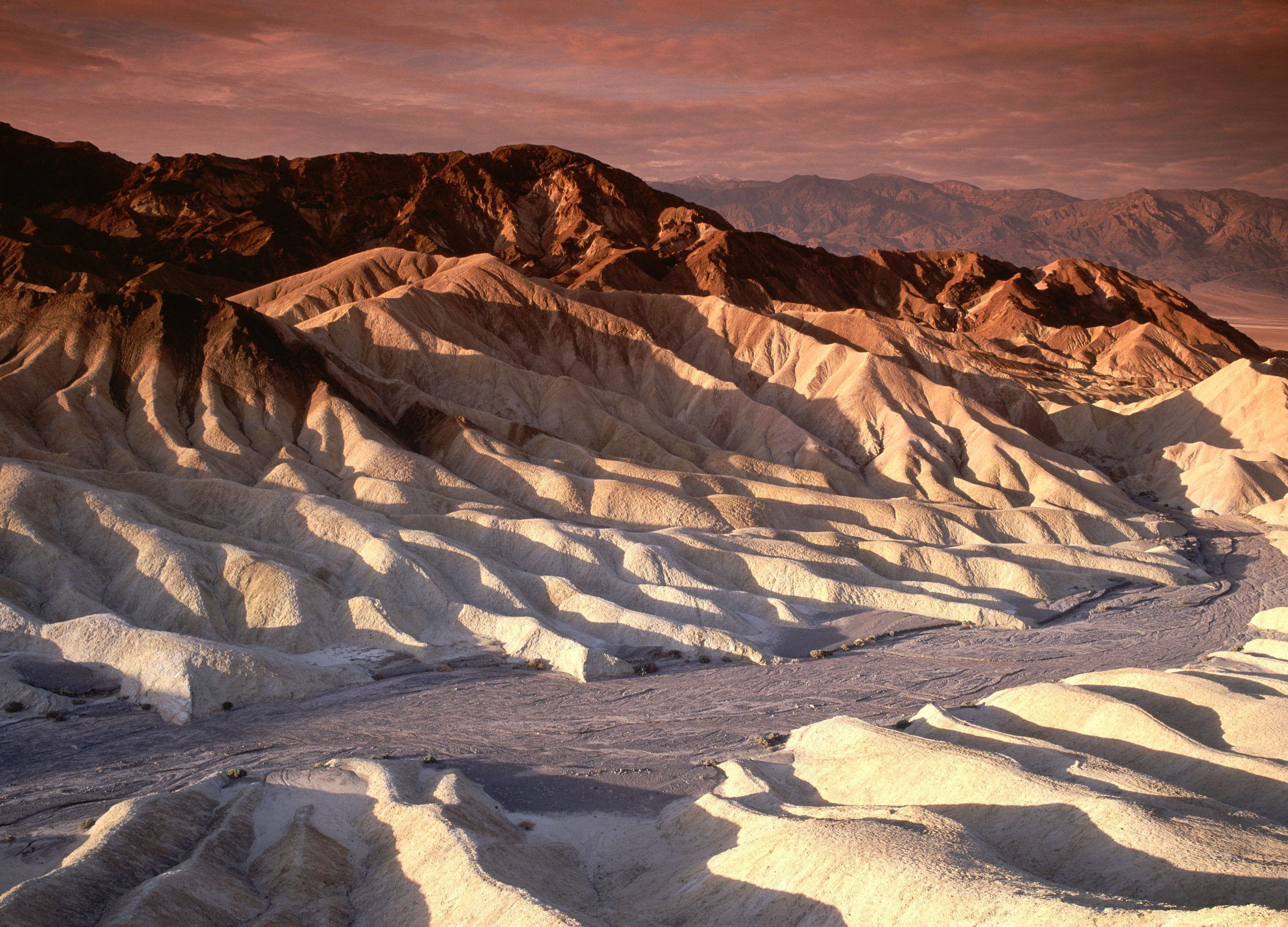 Scenic view of Desert Hills of Death Valley