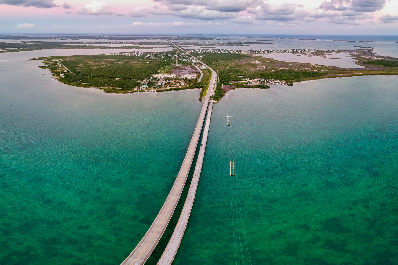 Road 1 to Key West in Florida, USA
